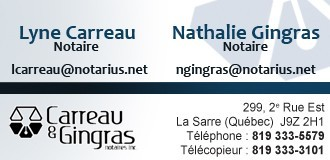 Carreau & Gingras notaires | Notaires