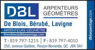 De Blois, Bérubé & Lavigne a-g | Arpenteurs-géomètres