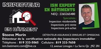 ISM | Inspecteurs en bâtiment