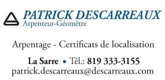 Patrick Descarreaux | Arpenteurs-géomètres