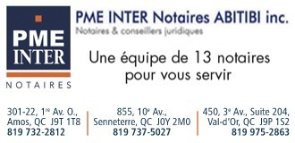 PME INTER Notaires Abitibi | Notaires