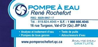 Pompe à eau René Rochefort | Traitement d'eau