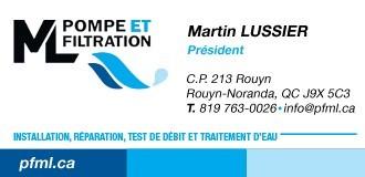 Pompe et Filtration M.L. | Traitement d'eau